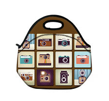 Camera Insulated Lunch Tote Bag Cooler Box Neoprene Lunchbox Baby Handbag Case