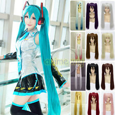 Long Straight 60cm 120cm Vocaloid Hatsune Miku Show Ponytails Anime Cosplay Wig