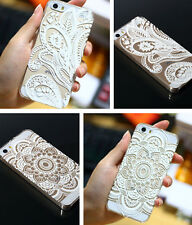 Henna White Floral Paisley flower Case Cover For Iphone 4S 5 5S 5C 6 & 6 plus