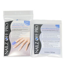 Nailz Off Pro Soak-Off Gel Nail Remover Caps Barrier Bags