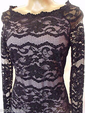 New M&S Marks & Spencer Black Lace Dress Size 6-22 Party Christmas Metallic