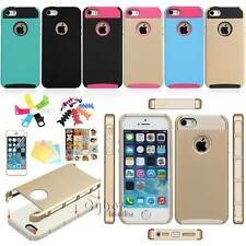 Shockproof Heavy Duty Matte RUGGER Hybrid Hard Combo Case Cover For iPhone 5 5S