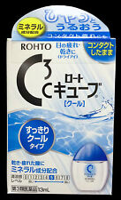 Rohto C3 (C Cube) Cool 13ml Japanese Medicated Eye Drops for Contact Lens Users