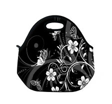 Flower Butterfly Thermal Insulated Lunch Tote Bag Picnic Bag Cooler Container
