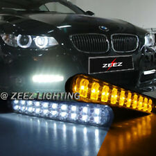 JDM 30 LED Daytime Running Light DRL Daylight Kit Fog lights + Amber Turn Signal