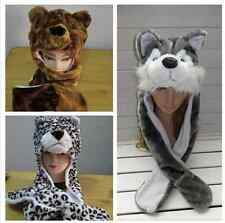 Men and women all appropriate fluffy long animal hat scarf gloves perfect gift