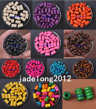 Wholesale 40PCS/100PCS Charm Wood Fluted Tube Spacer Beads Jewelry Making 12X7MM