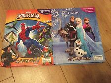 My busy books choose from disney frozen or marvel spider-man