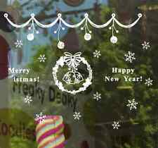 New Year Christmas Window Stickers  Snow Flake Wall Paper Decal Decor UK RUI07