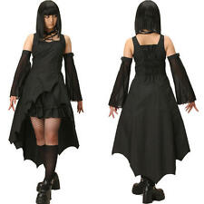 J8 long gothic lolita punk black dress with arm warmer vampire dark