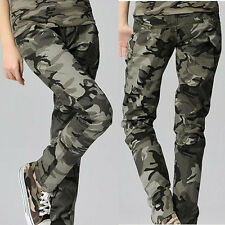 women's Camouflage Cargo Jeans Combat Trousers 879