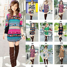 CHEAP NEW  Women Lady Xmas Christmas Knitted Jumper Long Sleeve T-Shirt Tee Tops