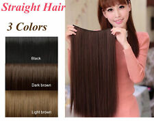 Women 5 Clips in 3/4 Full head 3 Colors Straight Long Hair Extensions Supply