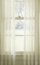 Plain SHEER Voile White Cream Net Sheer Curtain Panel inc EXTRA WIDE EXTRA LONG