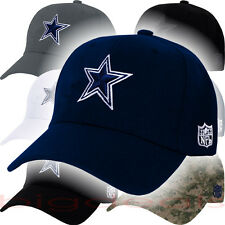 Dallas Cowboys Cap Velcro NFL Logo DAL Hat Embroidered Football Navy On Field 3D