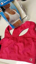 2 PK. SMALL CHAMPION SPORTS BRA SEAMLESS DOUBLE DRY JOGGING YOGA PINK / GRAY NEW