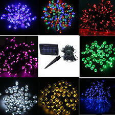 NEW 100/200LED Solar 9color Powered Fairy Light String Christmas Decor Free Ship