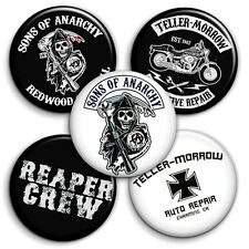 Sons of Anarchy Button Badge - 25mm 1 inch TV Series, Reaper Crew, Teller Morrow