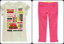 Gymboree NWT Girls Think of Everything Tee and Pink Diamond Skinny Jeans Sz 4  E