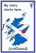 Personalised magnets - Scotland - My story starts here (place of birth)