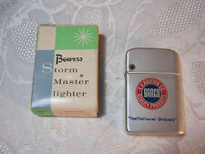 BOWERS STORM MASTER BARCO B.A. RAILTON CO GROCERS LIGHTER WITH BOX  VINTAGE   T*