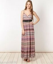 Butterfly by Matthew Williamson Heart Aztec Black Beaded Waist Maxi Dress 12