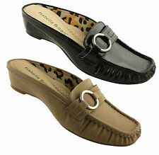 ISABELLA BROWN STAR WOMENS/LADIES SLIP ON SHOES/CASUALS/MULES/COMFORT ON SALE!