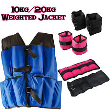 10/20kg Weighted Vest Jacket Wrist Ankle Straps Weight Strength Training Fitness