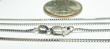 14kt Solid Gold .6MM Box Chain-16/18/20/24 inch-WHITE/YELLOW GOLD w/LOBSTER LOCK