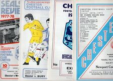 Chester HOME programmes 1975/76 & 1976/77 FREE P&P UK Choose from list