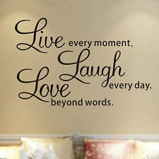 Quote Removable Vinyl Bedroom Living Room Decor Art Mural Wall Stickers Decals