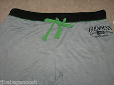 GUINNESS beer Shamrock Women's JUNIORS Girls PAJAMA LOUNGE Sleep Capri PANTS