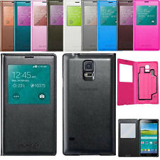 LUXURY S-VIEW Window FLIP LEATHER Case Cover for SAMSUNG GALAXY S5 i9600 G900