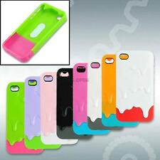 MELT ICE-CREAM BACK SHELL CASE COVER + SCREEN PROTECTOR FOR APPLE IPHONE 4S 4G 4