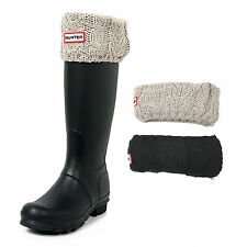 Hunter Women's Original Tall Dual Cable Knit Fleece Welly Socks