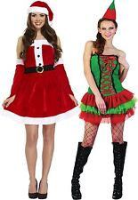 Sexy Santas Or Elf Santas Helper Fun Christmas Fancy Dress Costume