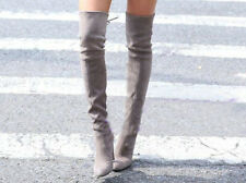 Womens Sexy Soft Pumps High Heel Sloch Over The Knee Thigh High Boots Shoes 2014