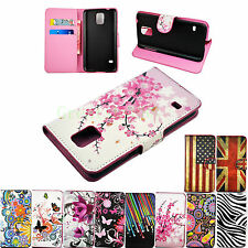 Stand Flip Wallet Leather Skin Cover Case Phone Accessories For Samsung Galaxy