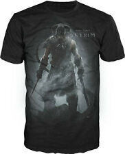 Skyrim The Elder Scrolls Video Game Dragonborn Adult T-shirt - Black