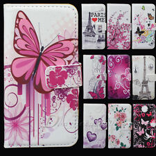 Flower Purse Wallet Pouch Leather Flip Skin Handbag Case Cover For iPhone 5G 5S