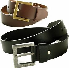 Alpine Swiss Mens Belt Genuine Leather Metal Buckle Jeans Casual Dress 40MM Wide