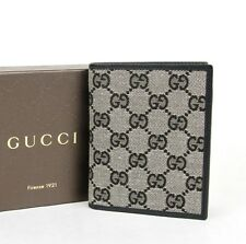 New Authentic Gucci Mens Monogram GG/Leather Bifold Wallet 292533