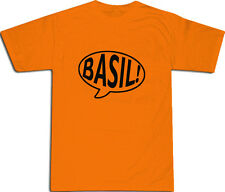 Basil Fawlty Towers Speech Bubble T-SHIRT ALL SIZES # Orange