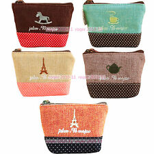 New Womens Ladies Coins Wallet Lovely Design Handbag Zipper Purse Convenient Bag