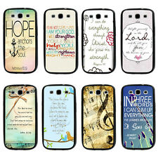 Philippians4:13 Bible Verse TPU Bumper Hard case For Samsung Galaxys3 s4 s5 note