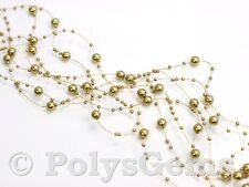 5 x 1.3 METRE STRANDS OF BEADED GARLANDS  WEDDING CHRISTMAS TABLE DECORATIONS