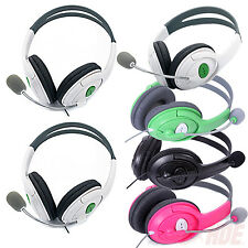 2 Pack Live Gaming Headset Headphones w/ Microphone for Microsoft Xbox 360 Chat