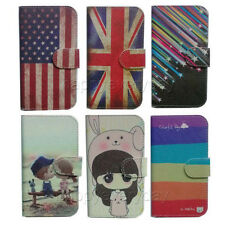 slim Wallet Card holder cartoon cute case Cover For BLU Aquaris