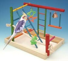 Penn Plax Wooden BIRD ACTIVITY CENTERS Birds Play Playground Gym Large BA147