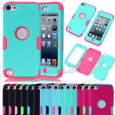 Rubberized Coating Matte PC Silicone Hybrid Shockproof Case For iPod Touch 5 Gen